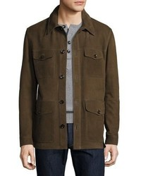 Nubuck four pocket jacket olive medium 3678320