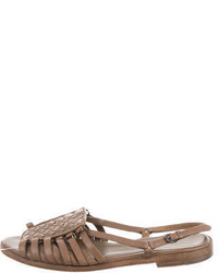 Bottega Veneta Leather Slide Sandals