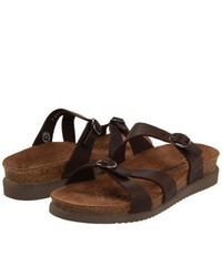 Mephisto Hannel Sandals Dark Brown Scratch Leather