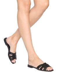 3bc2195dfd9 ... Saint Laurent 10mm Tribute Leather Slide Sandals ...