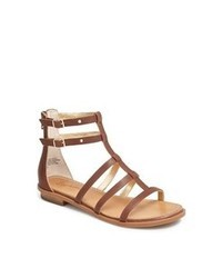 Brown Leather Gladiator Sandals