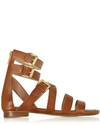 Michael Kors Michl Kors Jocelyn Luggage Leather Flat Sandal