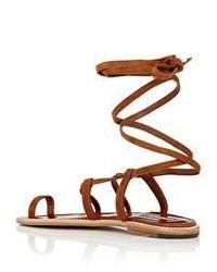 69c49d32fdca ... Manolo Blahnik Primathi Gladiator Sandals Brown ...