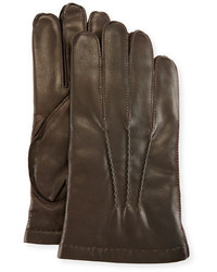 3 point napa leather gloves wcashmere lining medium 1149335
