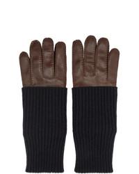 AMI Alexandre Mattiussi Brown Leather Gloves
