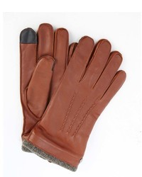 Wyatt Brown Leather Wool Lined Itech Gloves