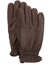 Cashmere lined leather gloves medium 1138800