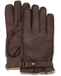 Cashmere lined leather gloves with snap medium 386914