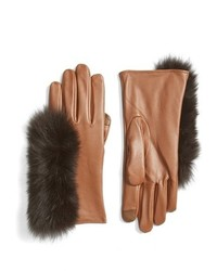 Echo Touchscreen Compatible Gloves With Genuine Fox Fur Trim