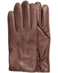 H&M Leather Gloves Dark Brown