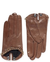 Maison Fabre Sasha Chain Lamb Leather Gloves