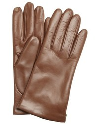 Portolano Pine Brown Nappa Leather Itouch Tech Gloves