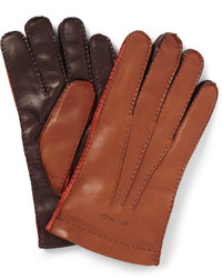 Etro Three Colour Leather Gloves