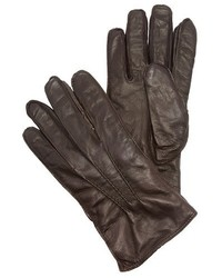 Washed leather gloves medium 923586