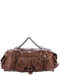 Thomas Wylde Embossed Patent Leather Handle Bag