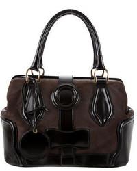 Balenciaga Suede Leather Handle Bag