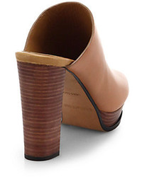 e29c3ab61e12 ... See by Chloe Block Heeled Leather Mule Sandals