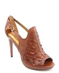 Carlos Santana Legendary Brown Leather Dress Sandals Shoes