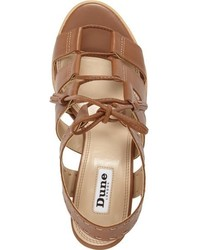 Dune London Ivanna Lace Up Block Heel Sandal