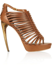 Alexander McQueen Multi Strap Leather Sandals