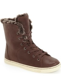 Ugg croft luxe genuine shearling high top sneaker medium 784395