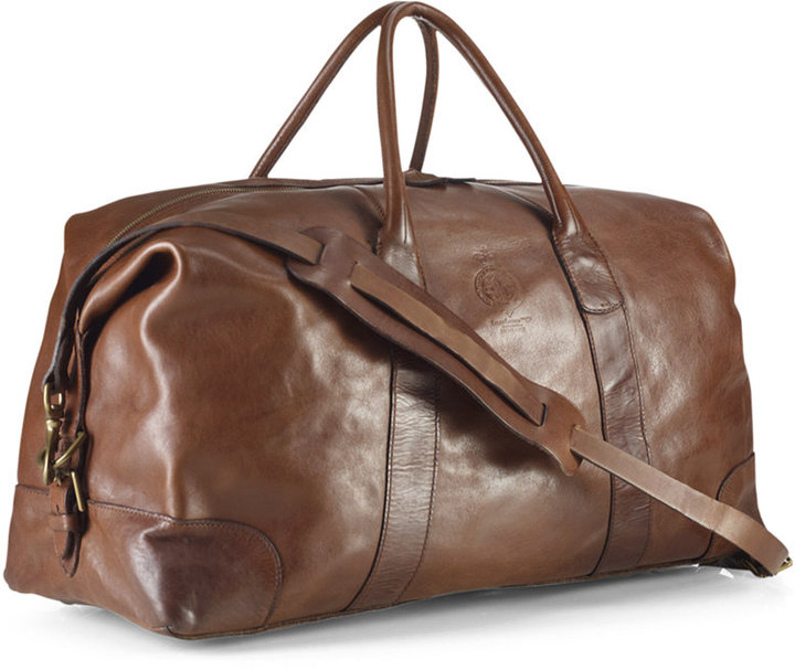 17f1d3f3ac82 ... Brown Leather Holdalls Polo Ralph Lauren Core Leather Duffle Bag ...