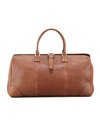 Brunello Cucinelli Large Leather Duffledoctor Bag Cognac