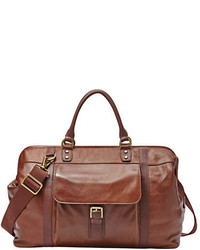 Fossil Leather Framed Duffel Bag