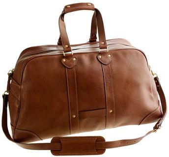 J Crew Montague Leather Weekender Bag