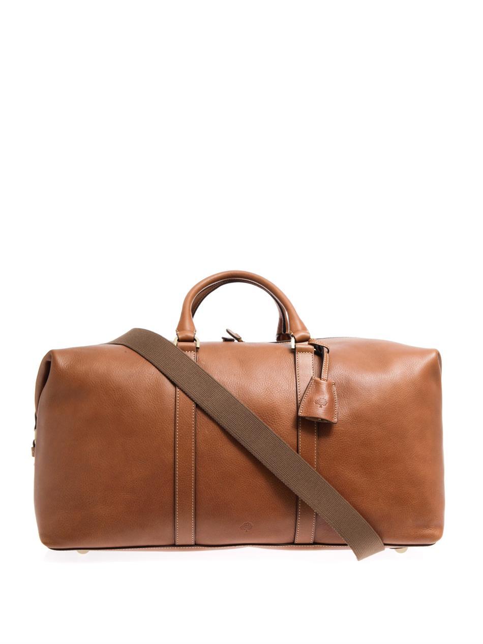 da542ecd464d ... Mulberry Leather Clipper Weekend Bag