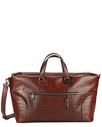 Marc by Marc Jacobs Tony Croc Embossed Leather Weekender