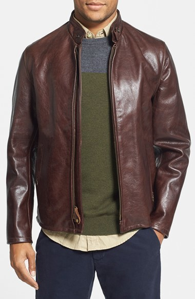 41d471e59 $700, Schott NYC Cafe Racer Waxy Cowhide Leather Jacket