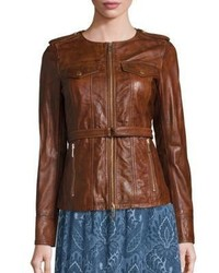MICHAEL Michael Kors Michl Michl Kors Belted Leather Jacket