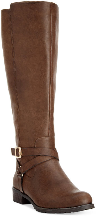 Brown Wide Calf Boots - Best Interior Design 2017