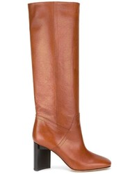 Brushed effect knee high boots medium 1153277
