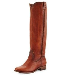Cara leather knee boot cognac medium 760511