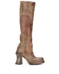 Cherevichkiotvichki Distressed Effect Knee High Boots