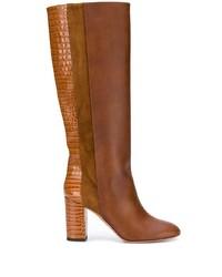 Aquazzura Eaton 85mm Croc Embossed Boots