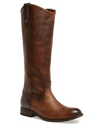 Frye Melissa Button Leather Riding Boot