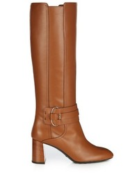 Tod's Gomma Leather Knee High Boots