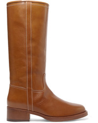 Etro Leather Knee Boots Tan