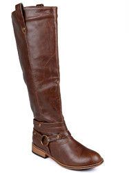 Journee Collection Walla Riding Boots Wide Calf