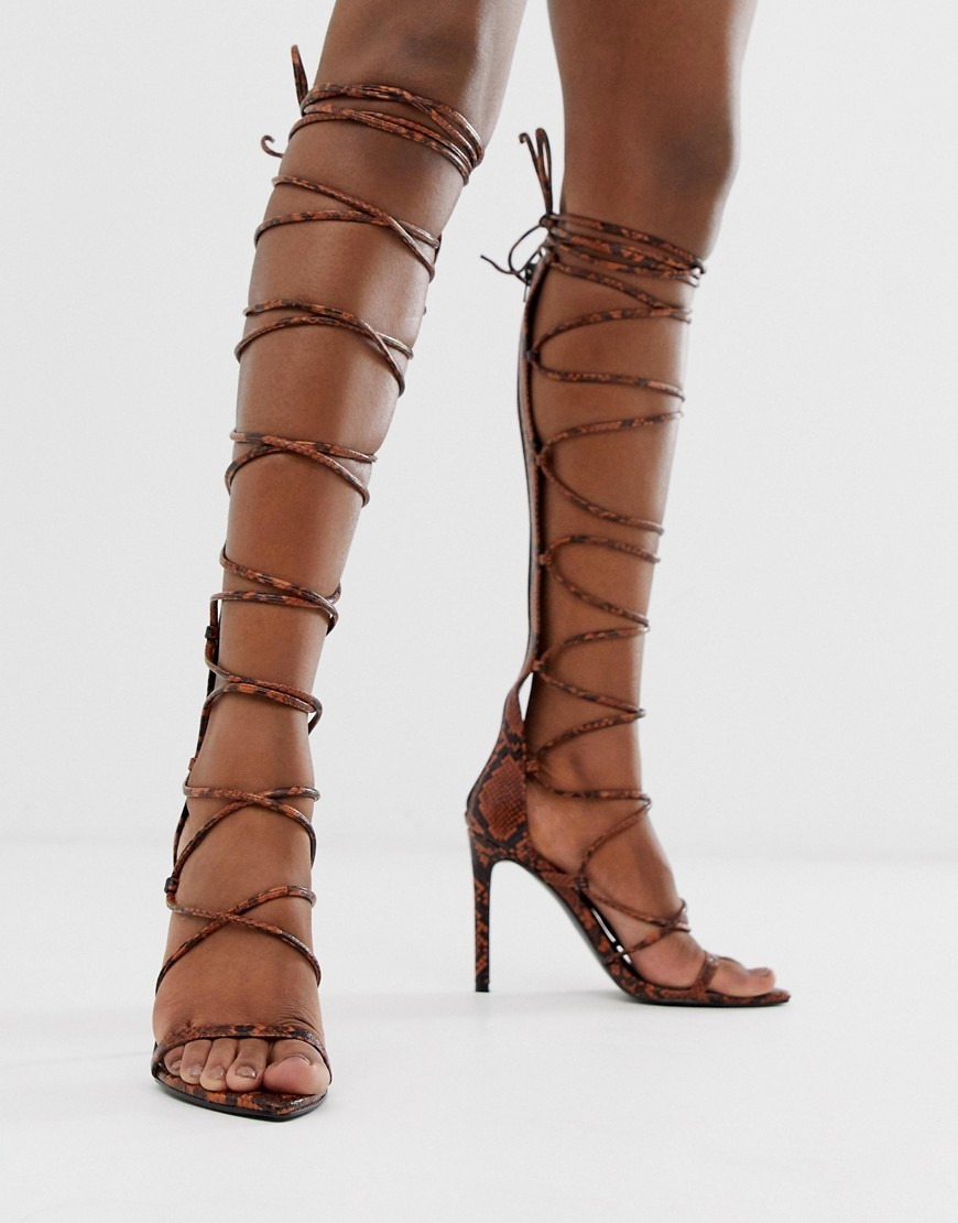 Knee Length Gladiator Heels
