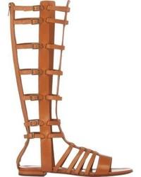 Saint Laurent Strappy Gladiator Sandals Nude