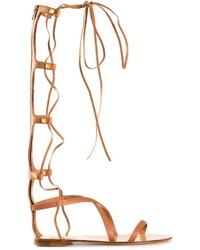 163c824dd64e Women s Knee High Gladiator Sandals by Valentino Garavani