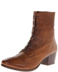 Frye Courtney Lace Up Pebbled Combat Boot
