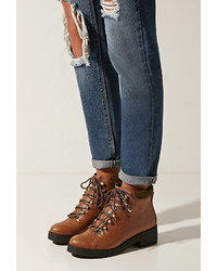 Forever 21 Eeight Madison Lace Up Boots
