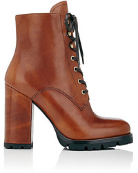 Leather lace up ankle boots medium 3666877