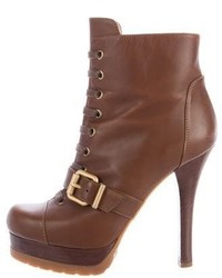 Fendi Leather Platform Booties