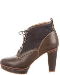 Rag & Bone Denim Accented Platform Ankle Boots